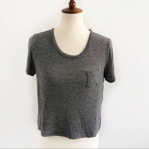 Gray Crop Shirt